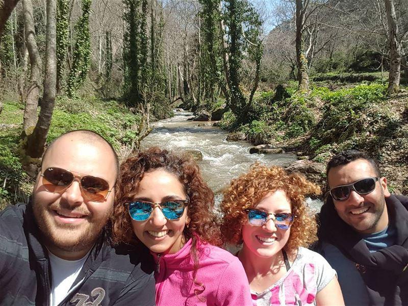 river bridge water spring lebanon valley green quiet ...