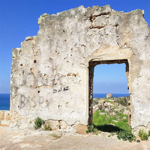 beyond the  wall...  byblos  door for the  history mediterranean  sea ... (Byblos - Jbeil)