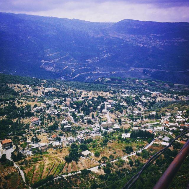 Kfour El Arbeh village seen from Hardine lebanon batroundistrict ... (Hardîne, Liban-Nord, Lebanon)