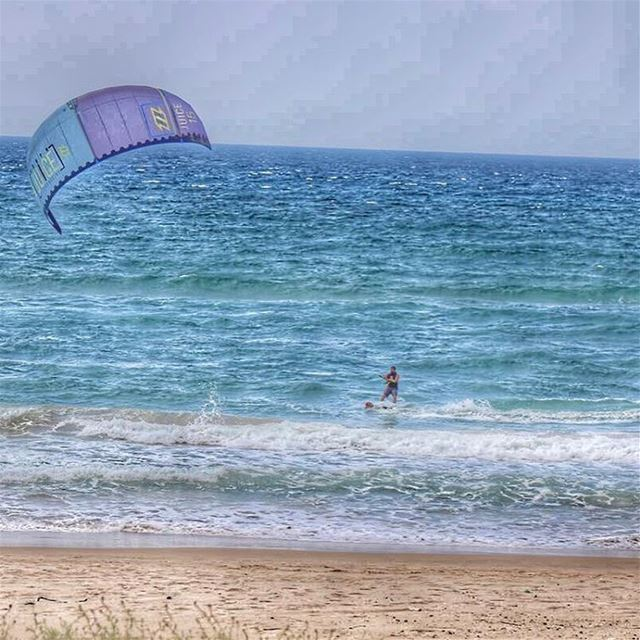 Looking forward for the weekend  lebanon  beach  beirut  kiteboarding ... (Laguava)
