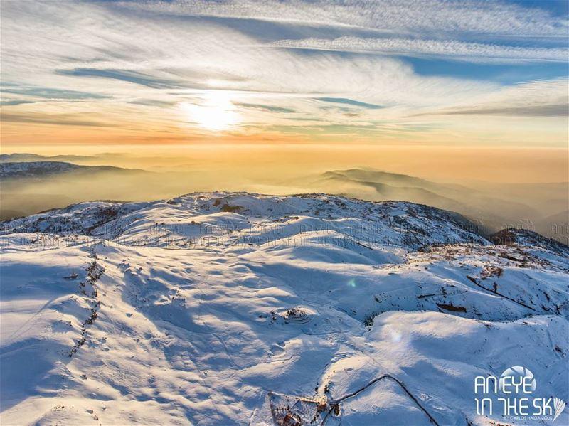 AnEyeInTheSky of Zaarour :) snow mountains drone clouds lebanon ... (Zaarour)