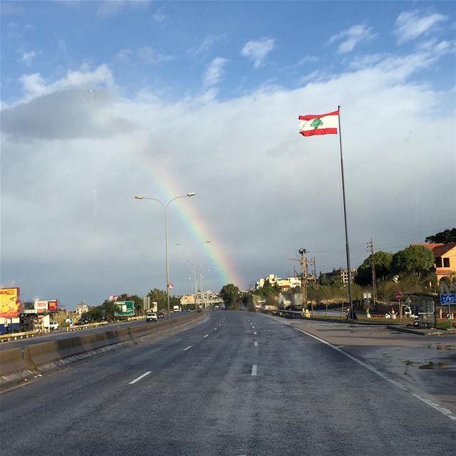 lovelyweather lebaneseroadtrip cloudy rainbow hopefully smilemore ... (Jbeil-Byblos)
