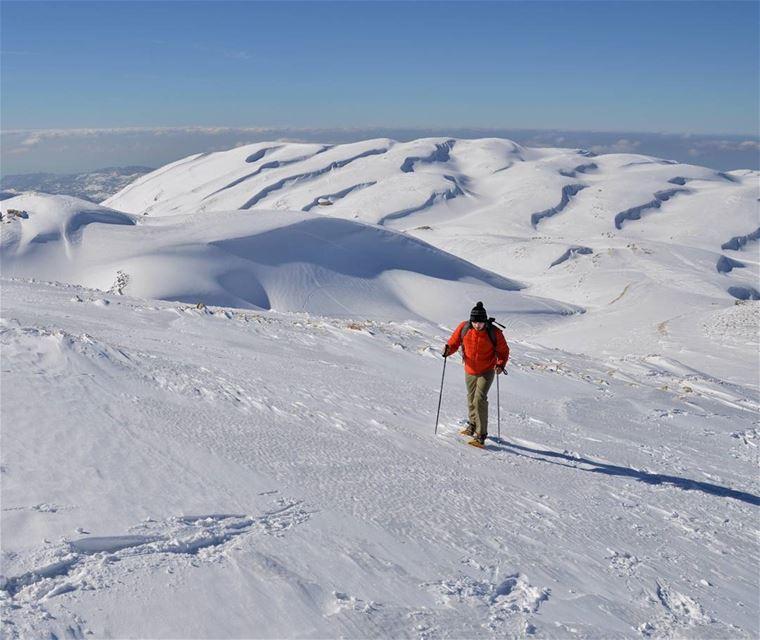 ❄🗻..... sunday snow mountains snowshoeing winter sports adventure... (Faraya Kfardibiene)