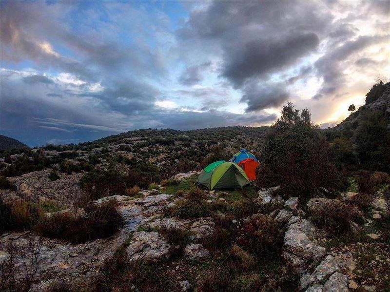 Camping under the rain ⛰⛺️ lebanon lebanon_hdr gopro goprolife ... (Hosn Aâr, Mont-Liban, Lebanon)