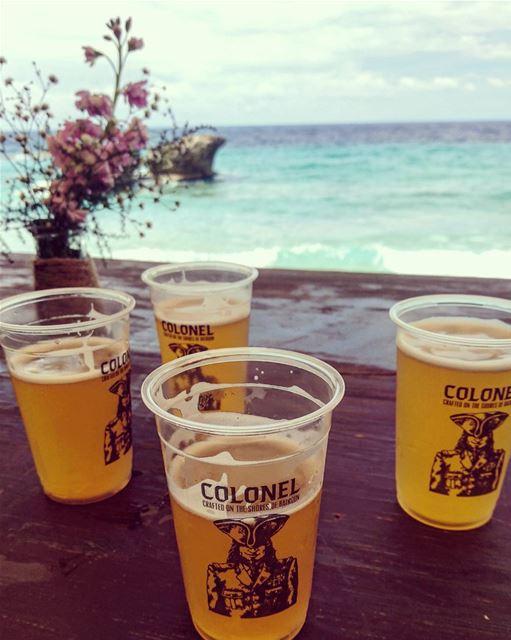 Enjoying Lebanon's finest beer at Lebanon's finest beach.⚪⚪⚪⚪⚪⚪⚪⚪... (Pierre & Friends)