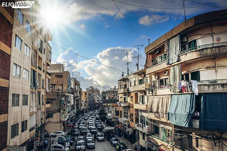 BourjHammoud Spring Weather Clouds Sky Buildings Sun City Beirut ...