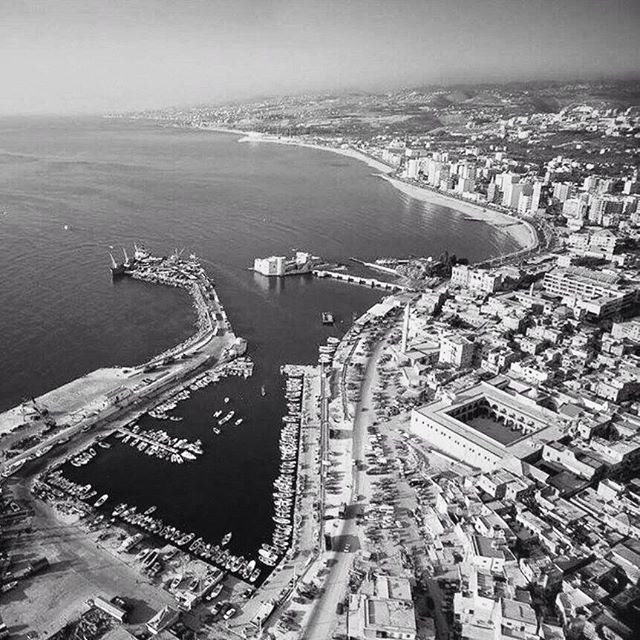 Saida Aerial View In 2000 .