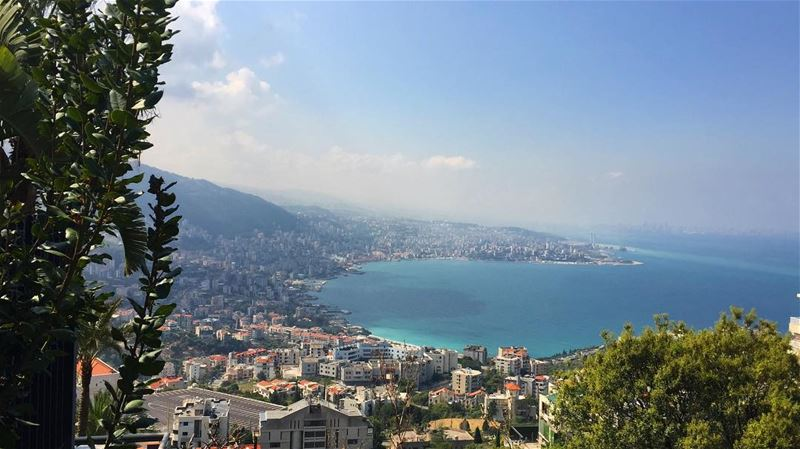 The Mediterranean Sea, coastline view from Jounieh. Working towards a... (Kasrouane)