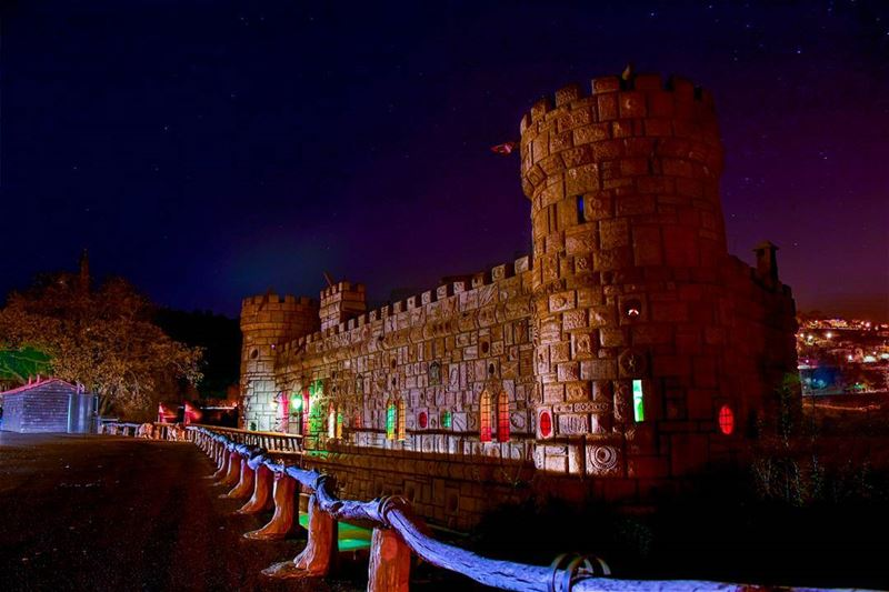 lebanon elchouf moussacastle lebanontourism nightshot ... (Moussa castleقلعة موسى)