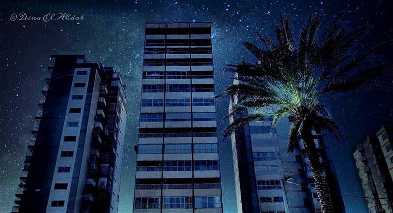 La nuit des étoiles... 🌃____ 961lens urban urbanlandscape urbanlife ... (Tripoli, Lebanon)
