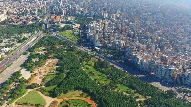 Flying over the Central Park à la Beirut ... LiveloveBeirut ... (Beirut, Lebanon)