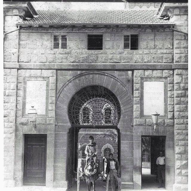 Beirut AUB Main Gate In 1912 .