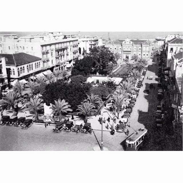 Beirut Martyrs Square In 1931 .