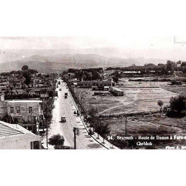 Beirut Damascus Street & Forn Al Chebbak In 1939 .