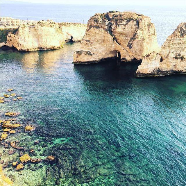 الروشة ❤By @ykhachab Rawché Rawshe Beirut Liban Libano Lebanon... (Raouché)