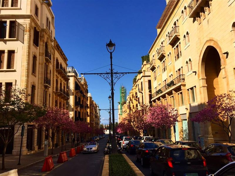 goodmorning from DT .. it's summernotspring 🌞 springishere ... (Downtown Beirut)