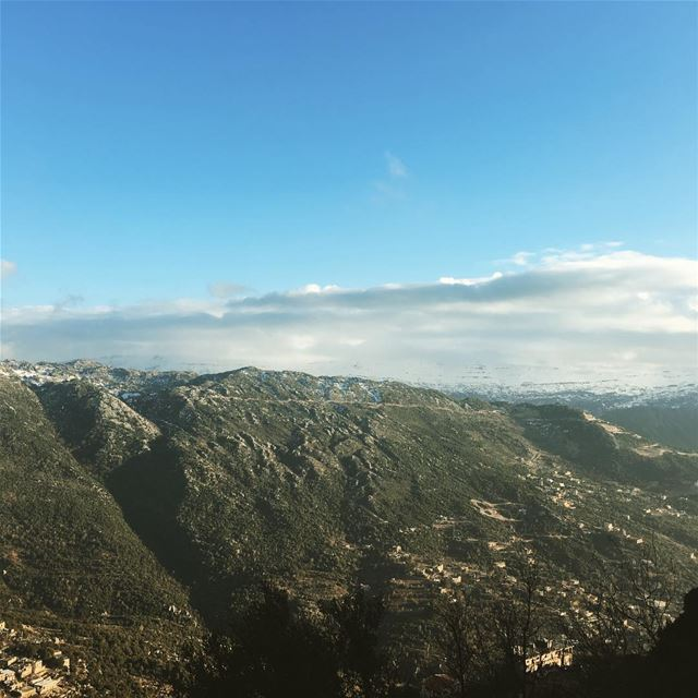 goodmorning  beautifullebanon  bluesky  green  mountain  amazingview ...