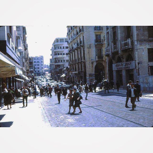Beirut Weygand Street In 1962 .