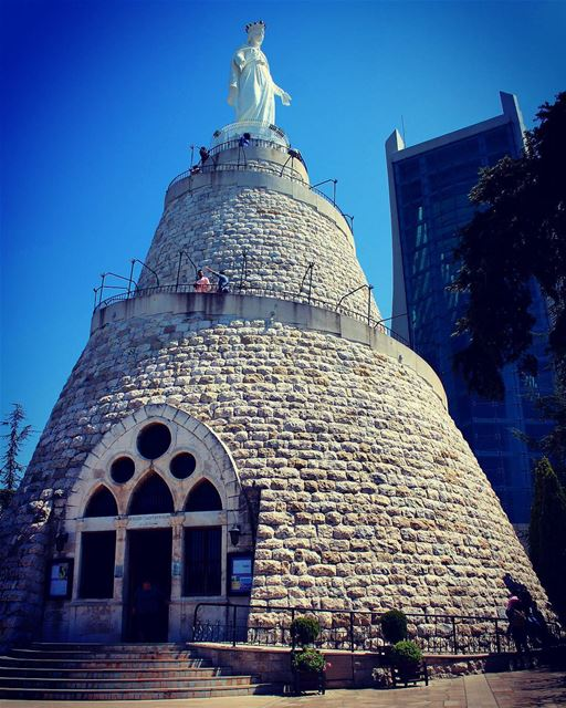"""""""And the angel said to her, """"Do not be afraid, Mary, for you have found... (Our Lady of Lebanon)"""