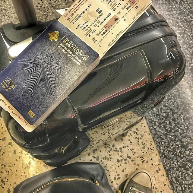 ✈️ Off to a new adventure/work traveljunkiediary travel trip flight ... (Beirut–Rafic Hariri International Airport)