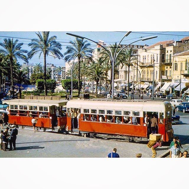 Beirut Martyrs Square And The Tramway in 1964 .