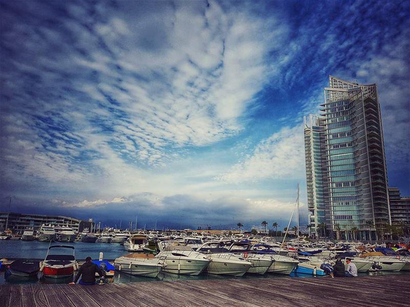 cloudy 🇱🇧 livelovebeirut beirut beiruting beirutstreets ... (Zeitouna Bay, Beirut , Lebanon)