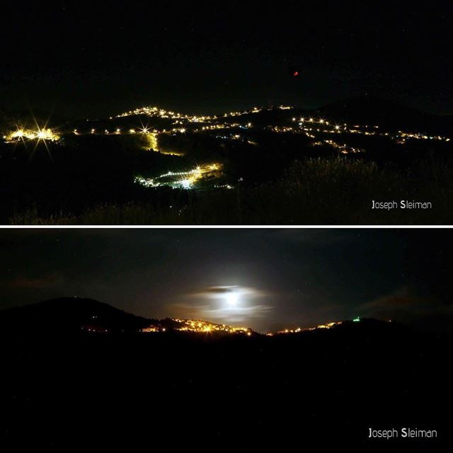 This is how I see my town Roum from the west and from the east ... It is... (Roûm, Al Janub, Lebanon)