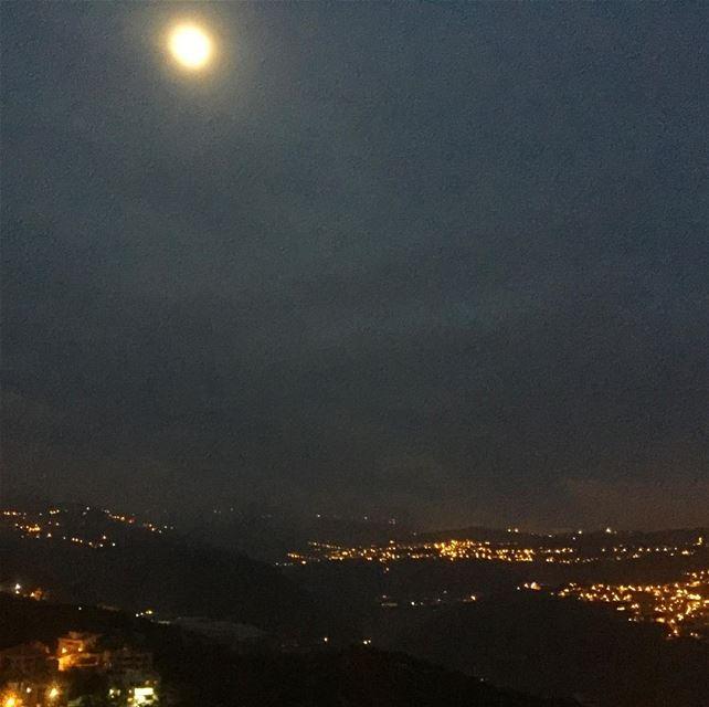 whatsuplebanon wanderlust mountains livelovelebanon moon moonlight ...