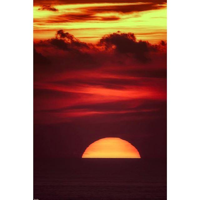 Sunset view from my balcony...... livelovelebanon livelovebeirut ...