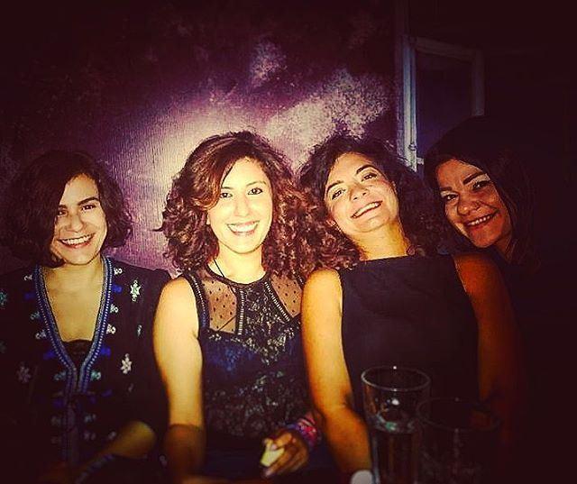 wide smiles girls girlsnightout birthdaycelebration drinks mesamours ... (60's Beirut)