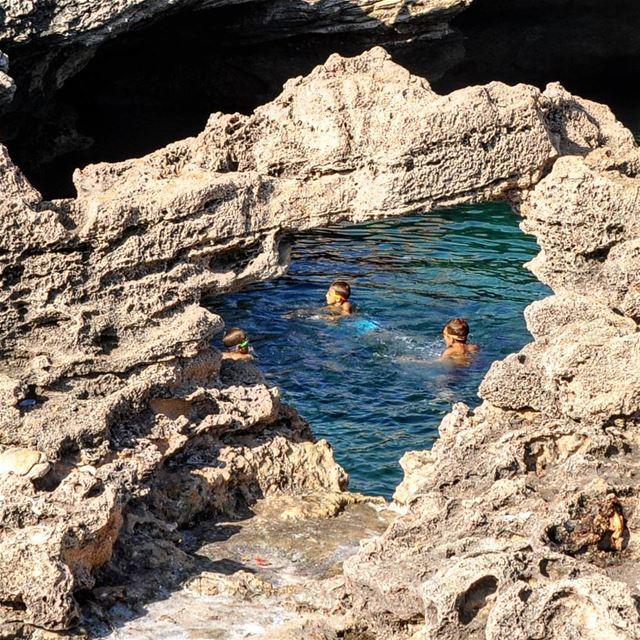 Locals warming up for the summer ... lebanon batroun ig_lebanon ... (Kfar Abida)