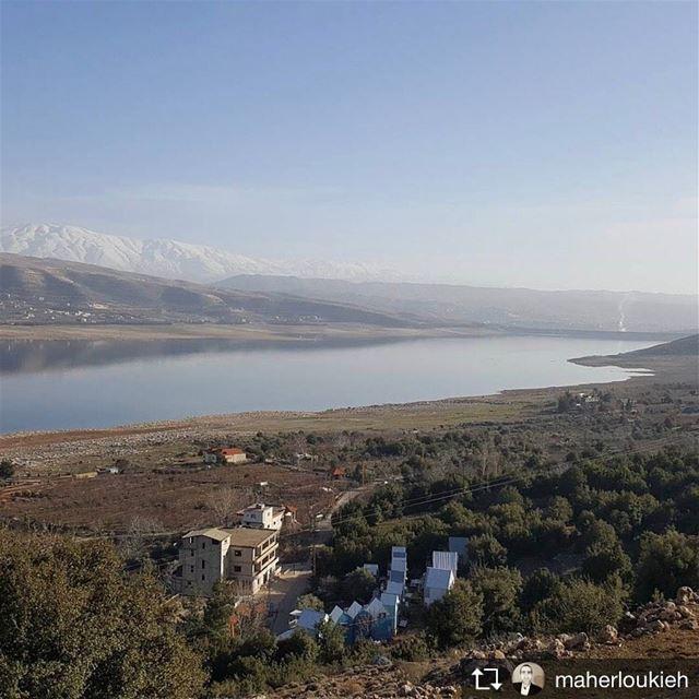 Repost from @maherloukieh saghbine qaraounlake westbekaa landscape ... (Saghbîne, Béqaa, Lebanon)