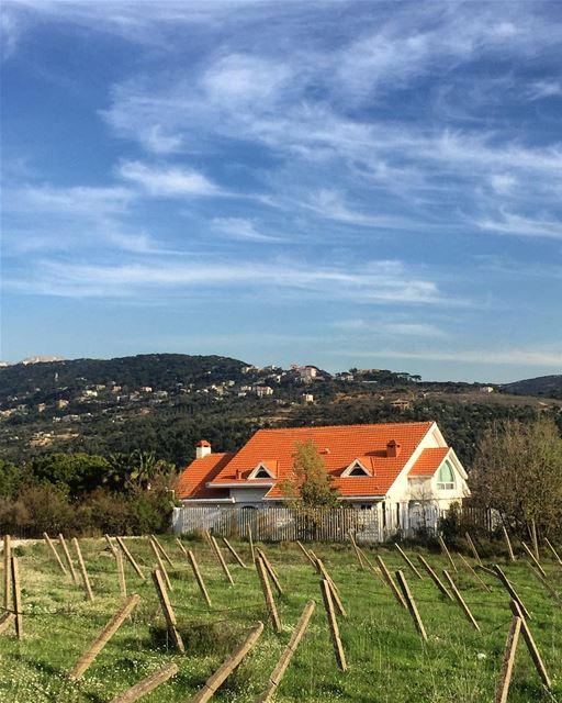 House on a hill 🌳🏡 a7labaladbil3alam photo love photograph ... (Baabdâte, Mont-Liban, Lebanon)