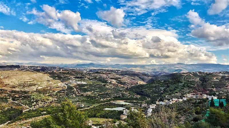 goodvibes amazing view nature mountain mountainview beautiful sky ... (Maghdoûché, Liban-Sud, Lebanon)