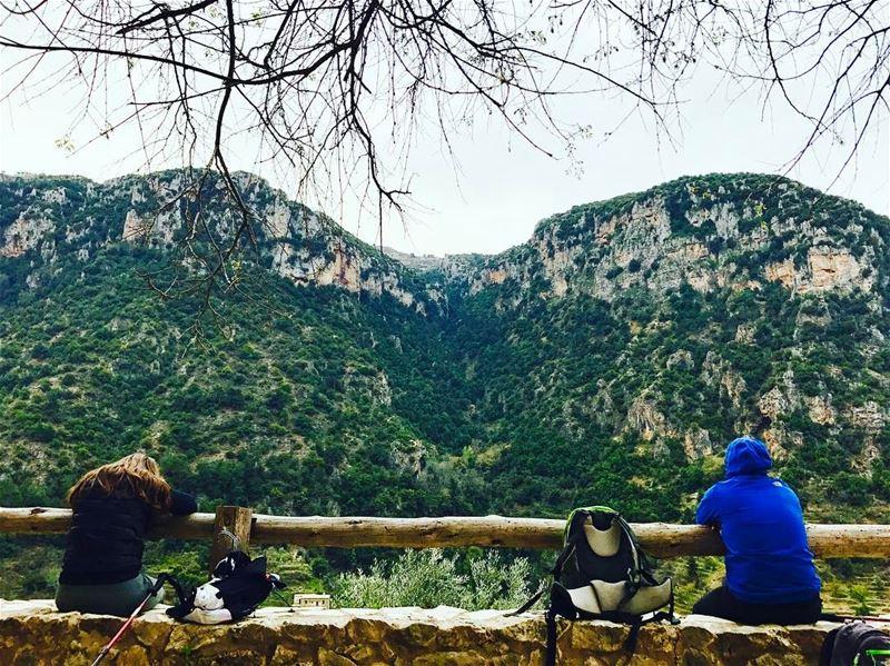 A small break to enjoy the view :)!....... livelovehike ... (Wadi Qannubin, Liban-Nord, Lebanon)