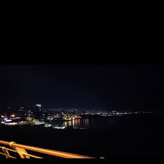 The beauty nowords inlove love mycity beirut bynight lights sea ...