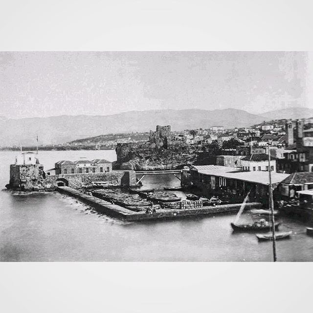 Port Of Beirut And The Castle in 1859 .