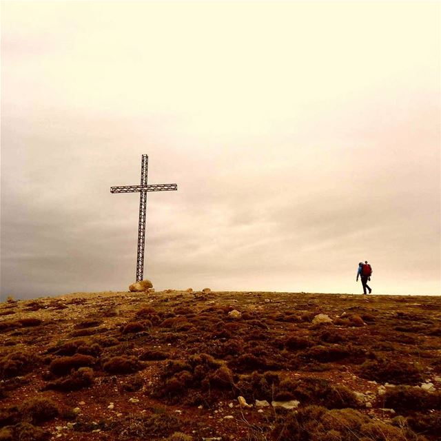 THE MAN ON TOP OF THE MOUNTAIN DIDN'T FALL THERE. thecross oursavior ... (Jered Tannourine)