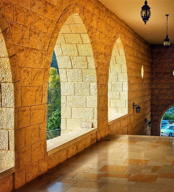 Beautiful architecture ❤ lebanon nature naturelovers ... (St Rafqa-Jrebta)