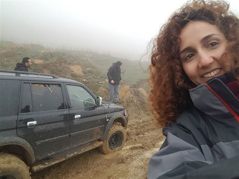 Until they figure out a way out of the mud selfie offroad adventure ...