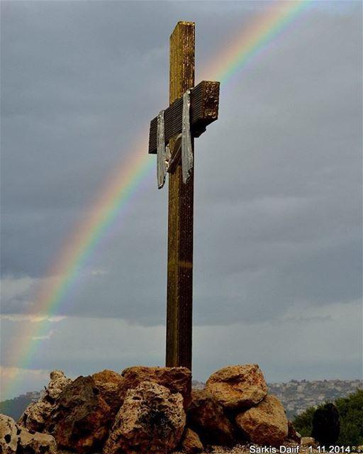 ehden ayto cross jesus insta_lebanon love passion rainbow clouds ...