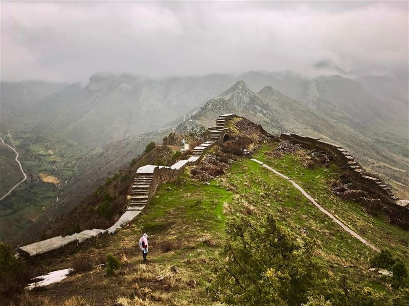 3 hours hike under the rain on a muddy land to reach the summit......... (Smbataberd)