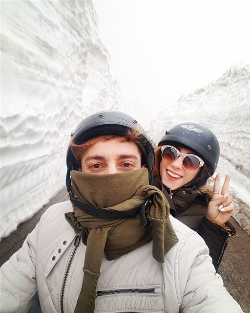 Never too late for snow ❄ aRideInTheSnow mikeamanda faraya lebanon ... (Mzaar Kfardebian)