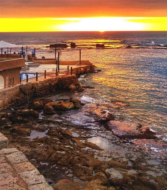 Beautiful Sunset - Byblos lebanon nature naturelovers natural ... (Byblos, Lebanon)