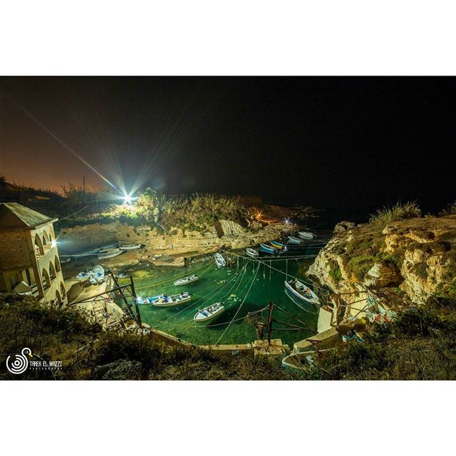 An old small fishing harbor in Beirut. Part of an area called Dalieh. It...