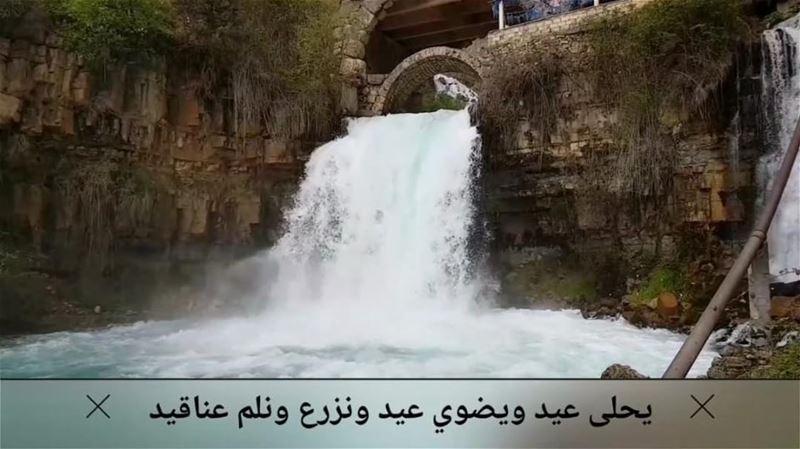 قُفوا قليلاً وانظروا؛ لِأُريكُم لُبناني 💙.. lebanon waterfall snow ... (Mount Lebanon Governorate)