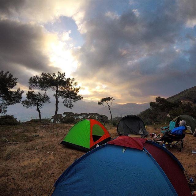 sunrise 🇱🇧⛰ 🏕 lebanon lebanon_hdr gopro goprolife goprooftheday ... (Jezzîne, Al Janub, Lebanon)