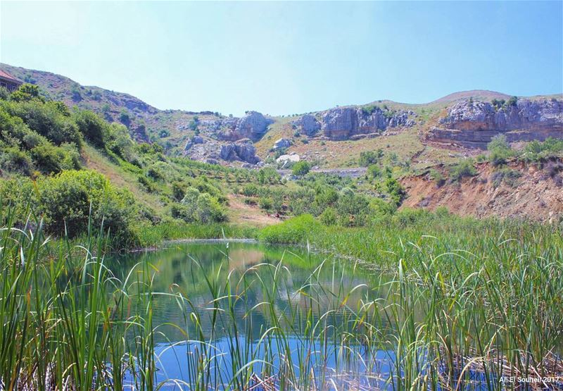 tb sannine lebanon lake nature pool water green mountains sky ... (Mount Sannine)