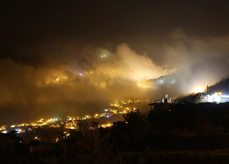 Have a great and beautiful night.... night light calm love peace... (Jezzîne, Al Janub, Lebanon)
