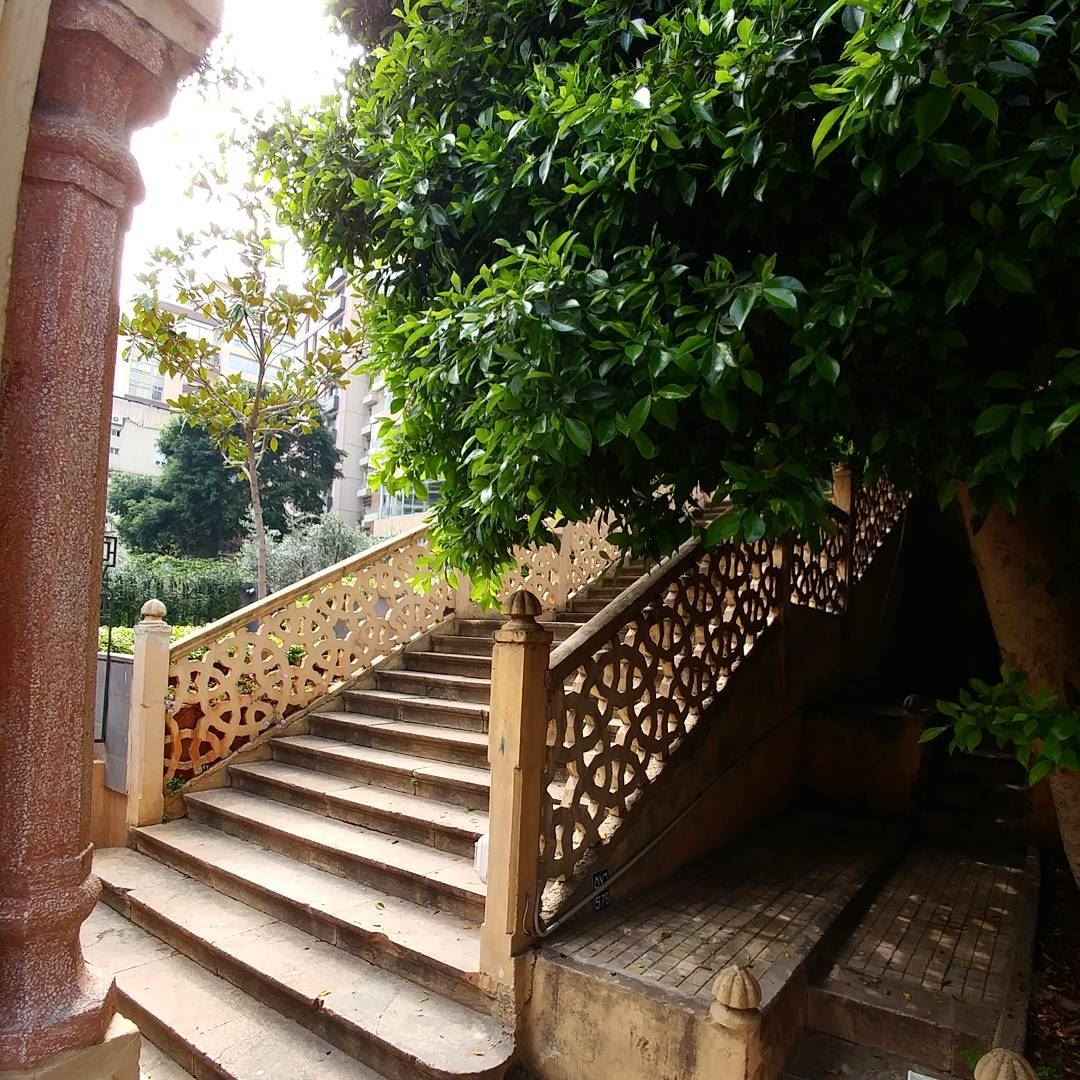 In traditional homes in Beirut, a staircase was used to acess the first... (Omar Daouk)